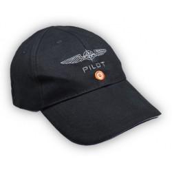 Cappello Design4Pilots in Cotone Nero